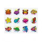 48 x Sealife - Packs of 12 Mini Tattoos Wholesale Box